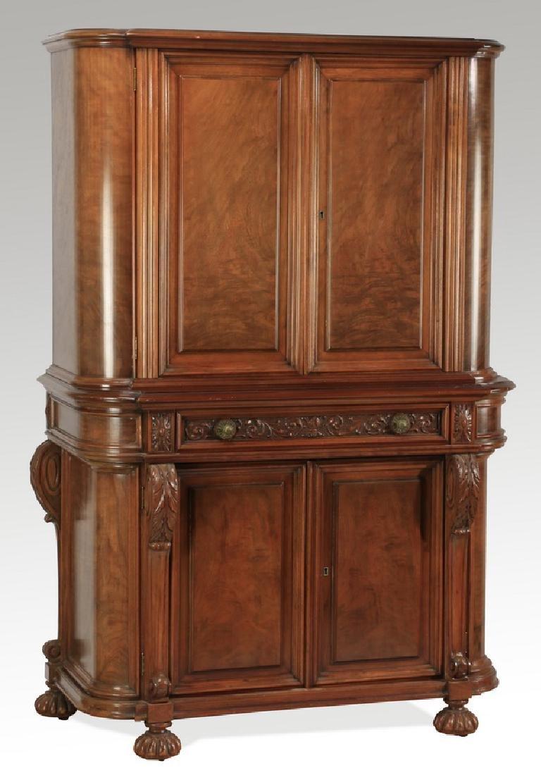 Early 20th c. Berkey & Gay style walnut cabinet