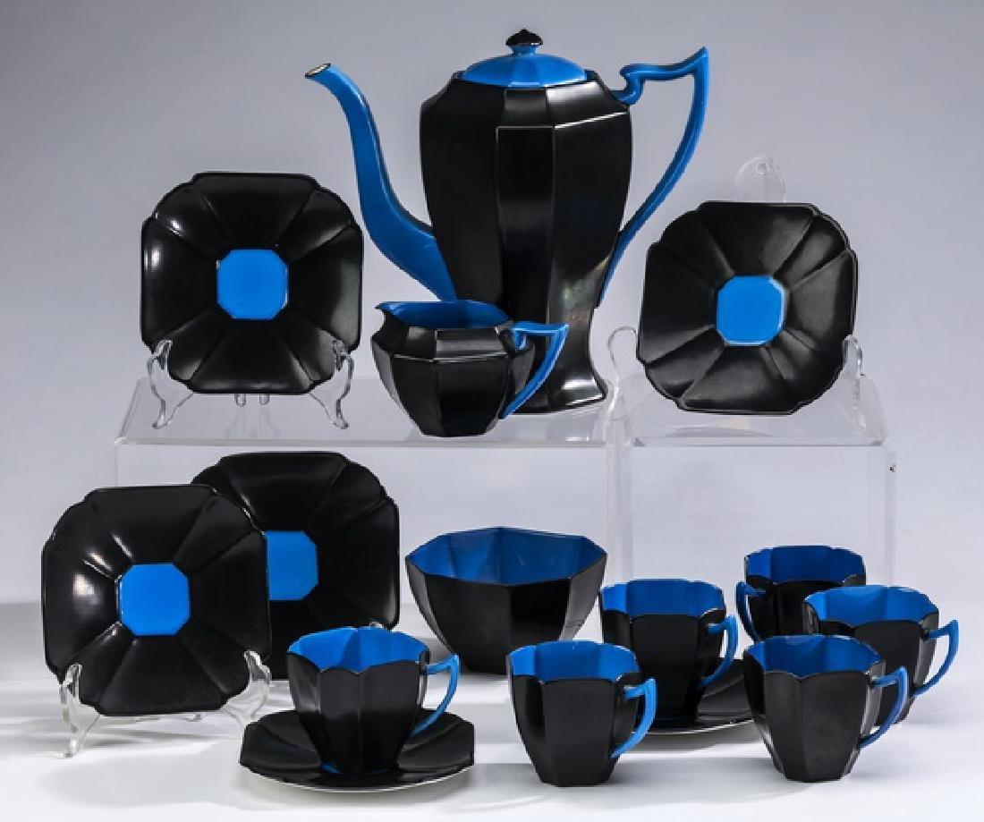 15-Pc Art Deco Shelley porcelain hot beverage service