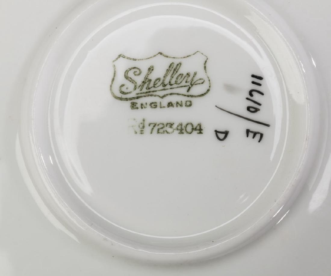 15-Pc Art Deco Shelley porcelain hot beverage service - 2