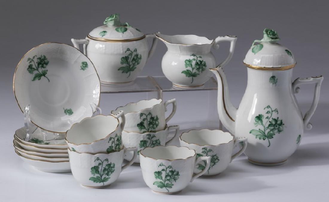 15-Piece Herend porcelain demitasse service