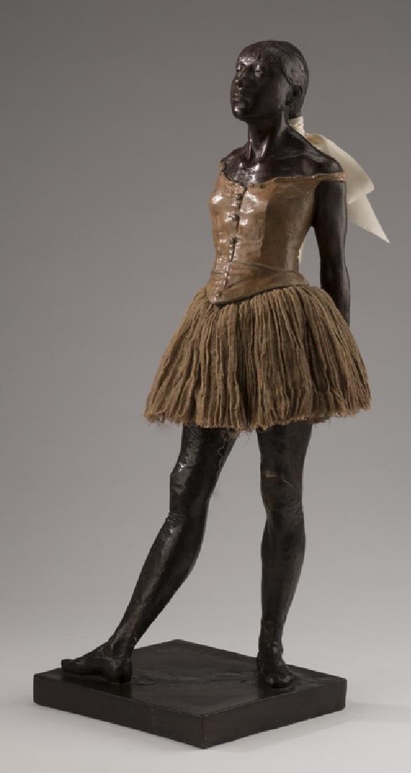 "After Degas, 'Little 14 Year Old Dancer' bronze, 21""h"