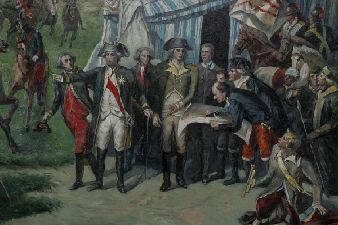 """After Couder, O/c of 'Siege of Yorktown', 55""""w - 2"""