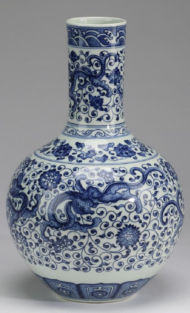 """Chinese dragon vase, Yongzheng mark, 12""""h - 4"""