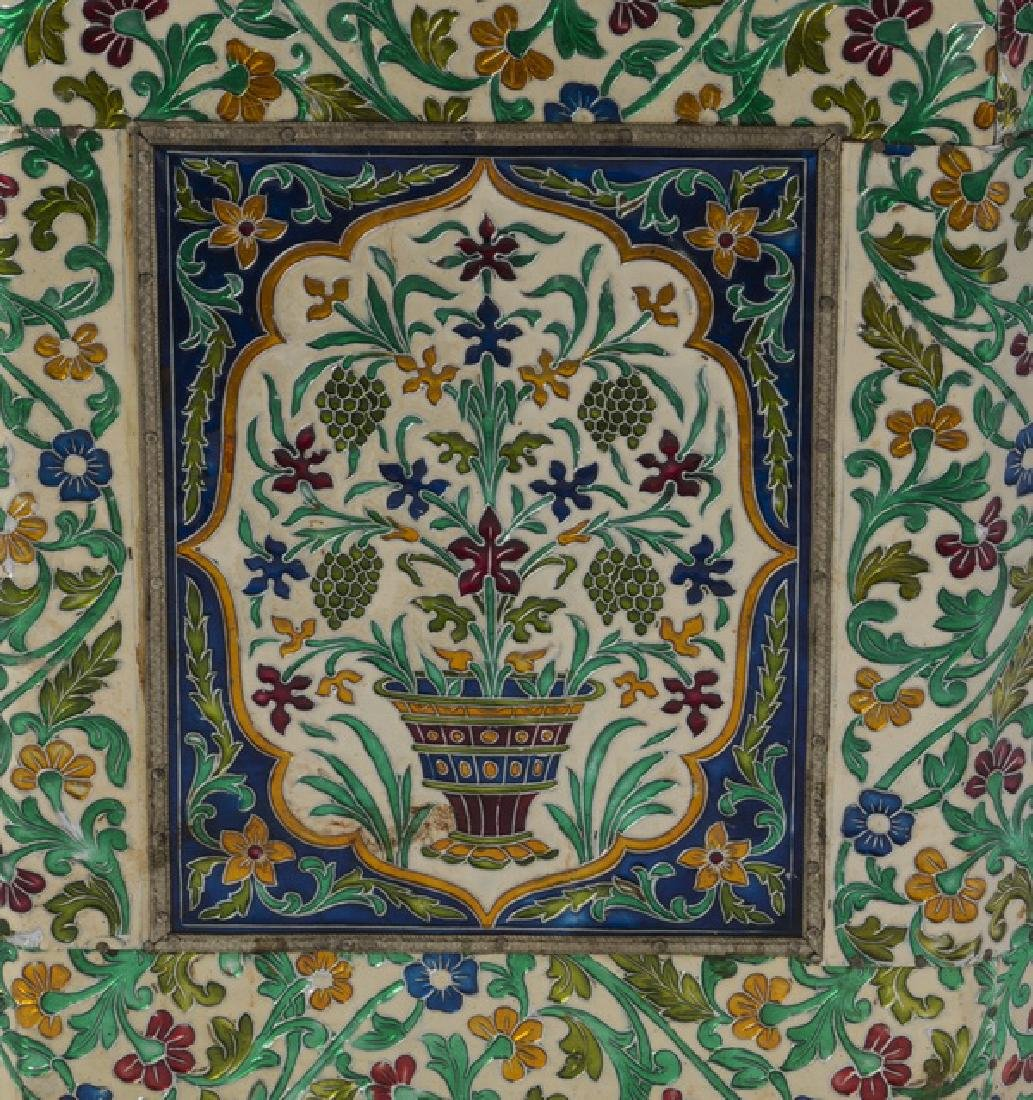 Meenakari-style planter with allover foliate motifs - 4