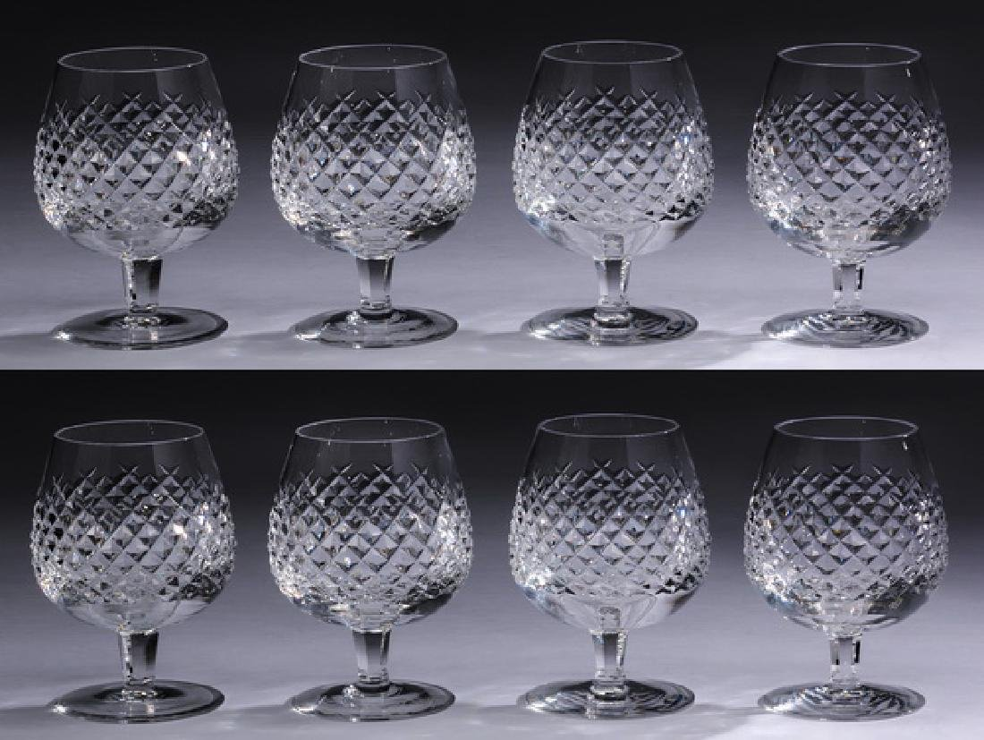 """(8) Waterford crystal 'Alana' brandy snifters, 5""""h"""