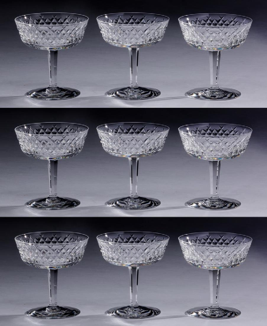 (9) Waterford crystal champagne or dessert coups