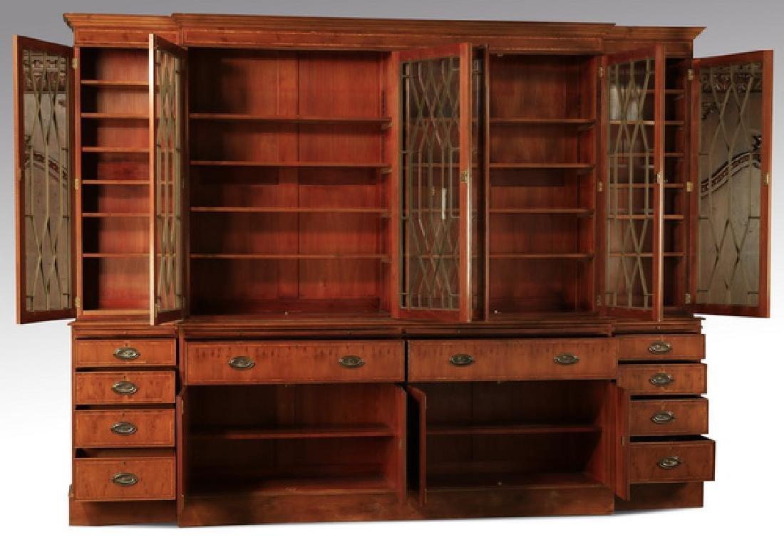 "English Regency style breakfront bookcase, 97""h - 2"