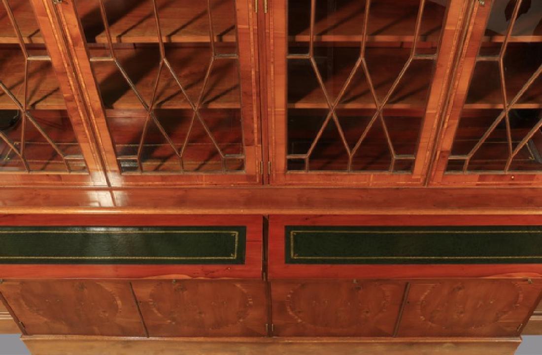 "English Regency style breakfront bookcase, 97""h - 3"