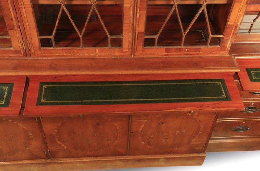 "English Regency style breakfront bookcase, 97""h - 4"