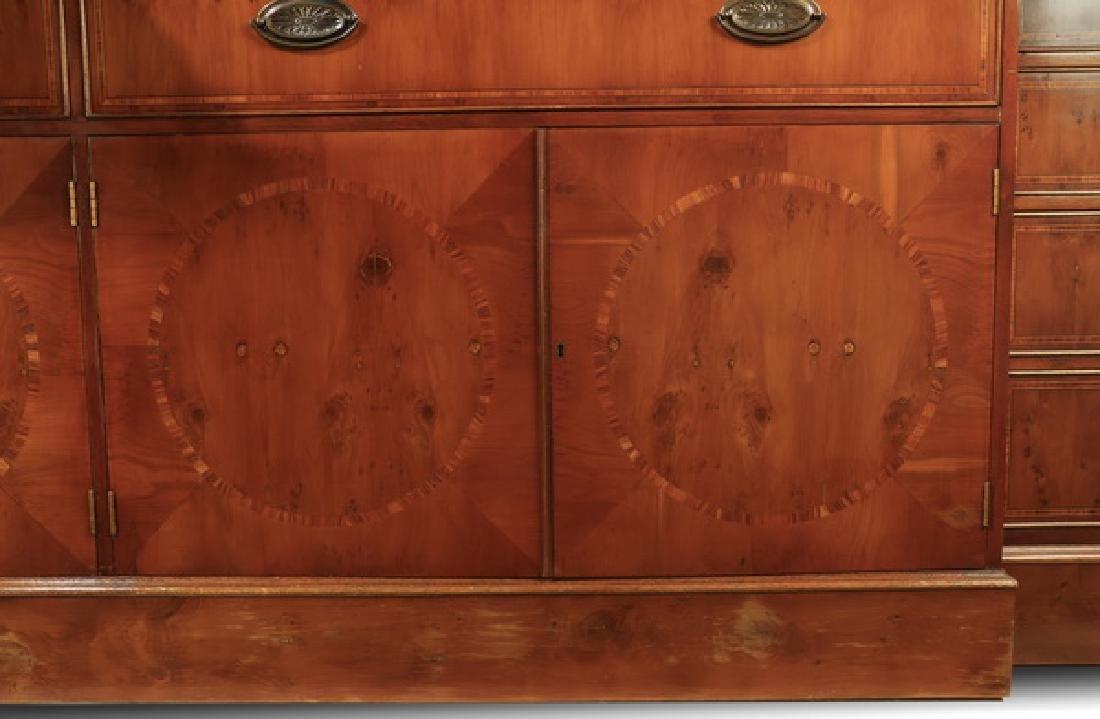 "English Regency style breakfront bookcase, 97""h - 6"