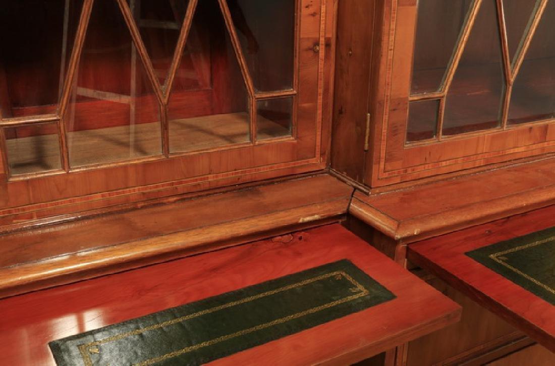 "English Regency style breakfront bookcase, 97""h - 7"