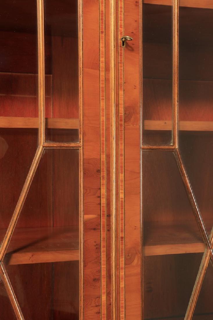 "English Regency style breakfront bookcase, 97""h - 8"