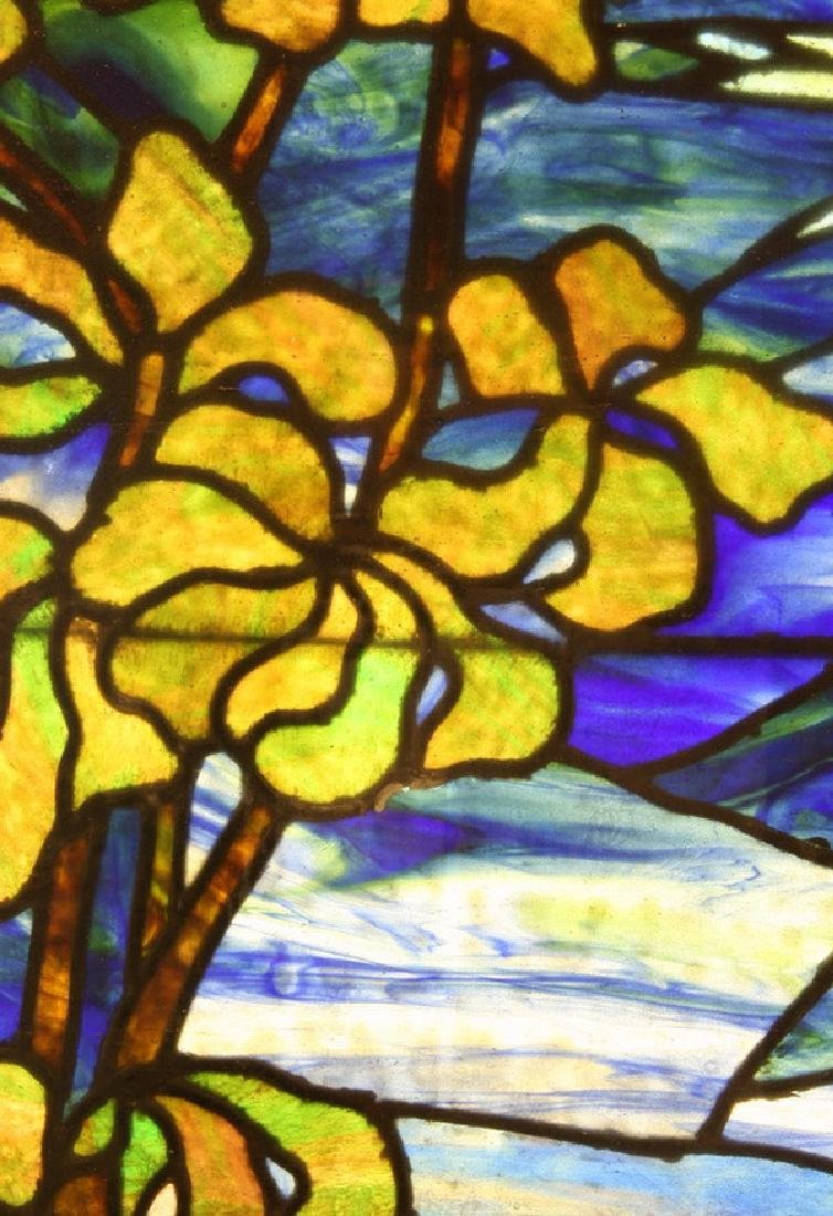 """Stained glass window, attr. to Lamb Studios, 73""""h - 2"""
