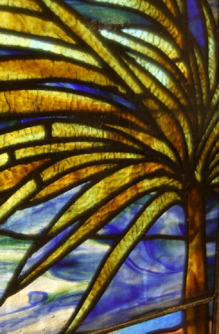 """Stained glass window, attr. to Lamb Studios, 73""""h - 3"""