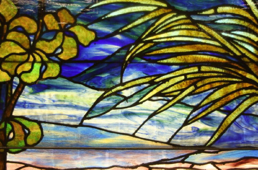 """Stained glass window, attr. to Lamb Studios, 73""""h - 4"""