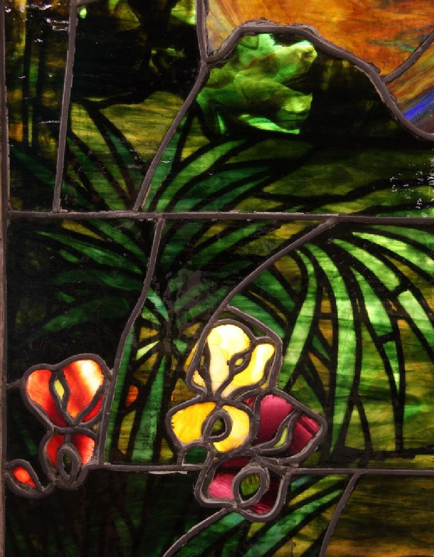 """Stained glass window, attr. to Lamb Studios, 73""""h - 5"""