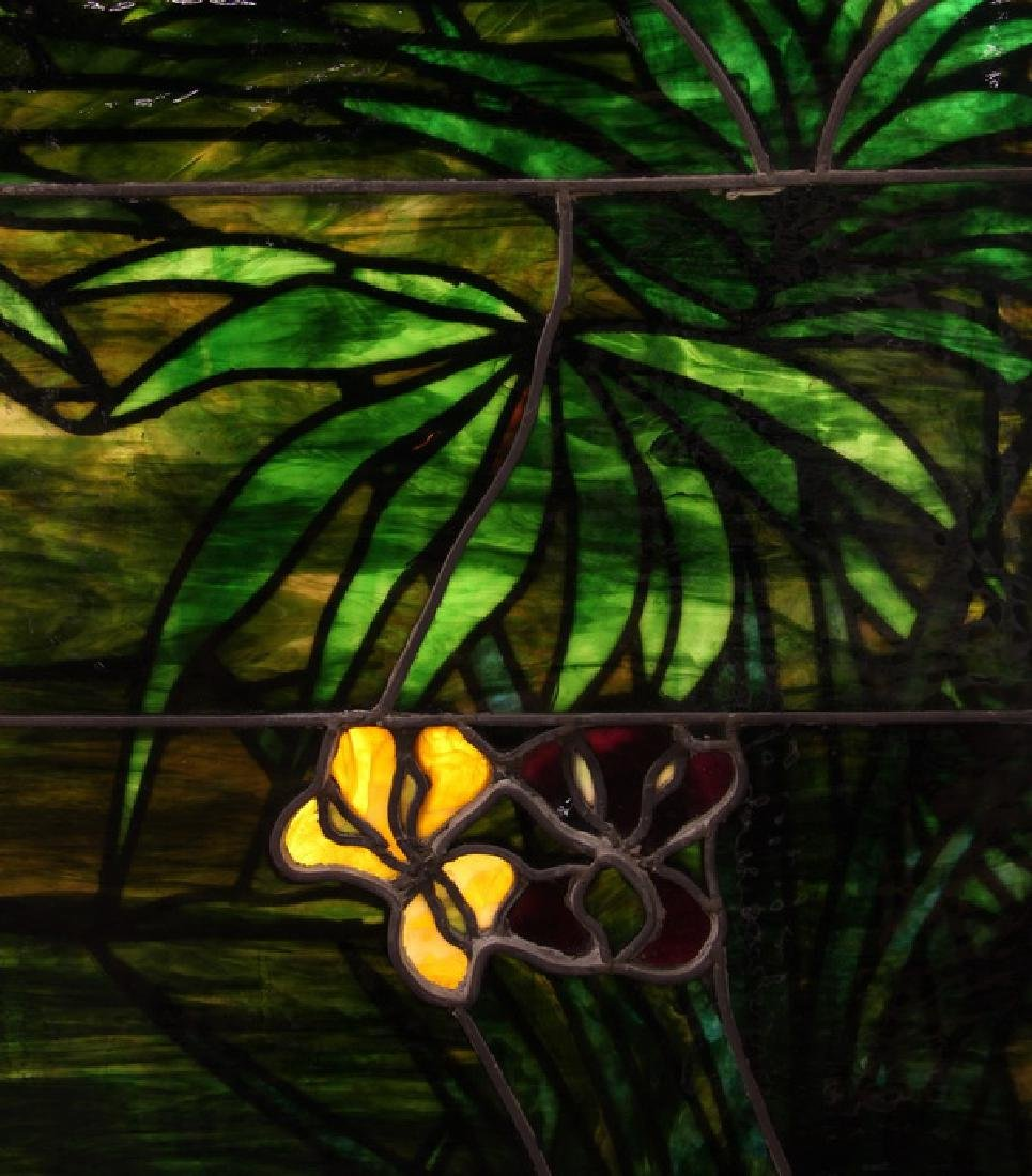 """Stained glass window, attr. to Lamb Studios, 73""""h - 6"""