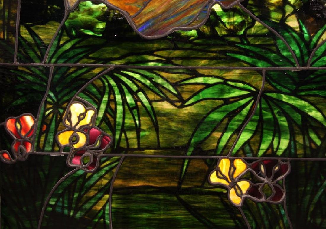 """Stained glass window, attr. to Lamb Studios, 73""""h - 7"""