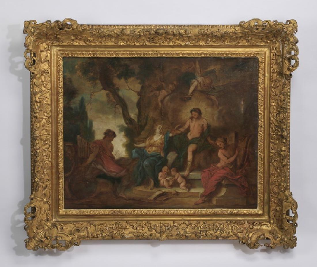 Nicholas Bertin, 'Apollo and the Muses' O/c, 18th c.