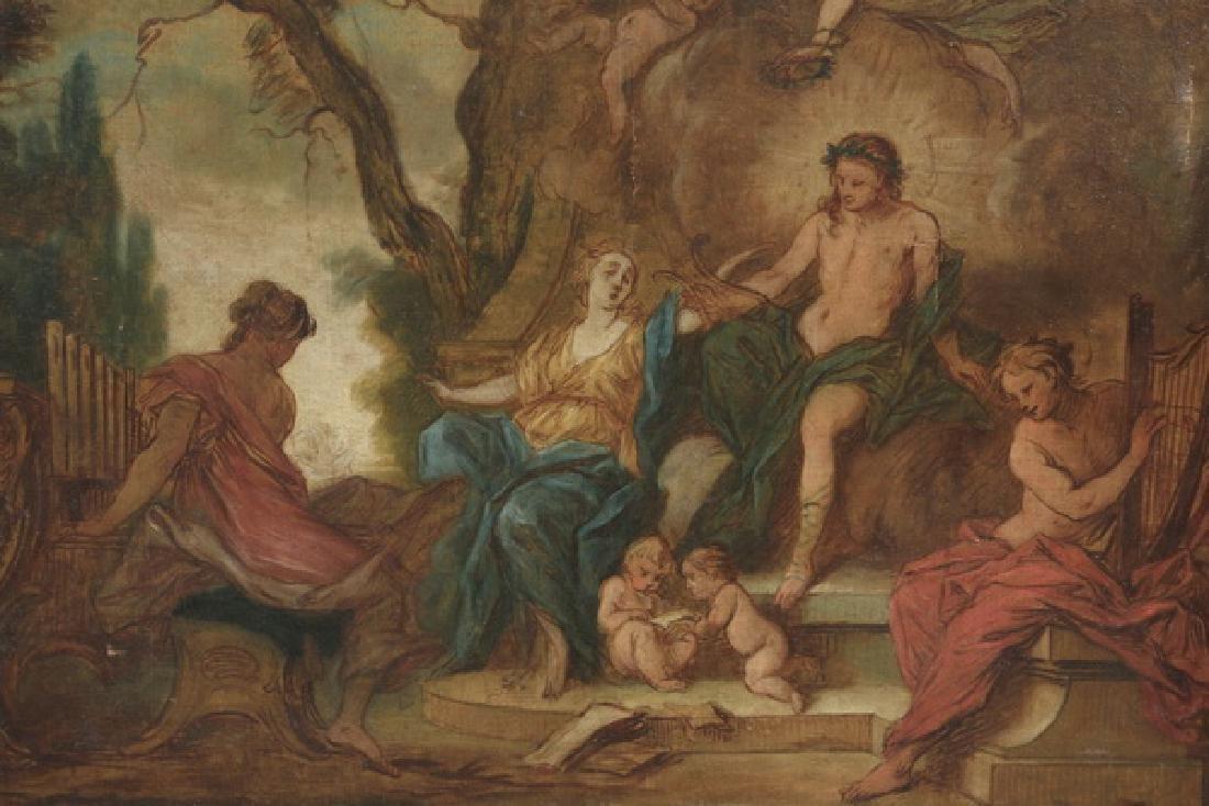 Nicholas Bertin, 'Apollo and the Muses' O/c, 18th c. - 2