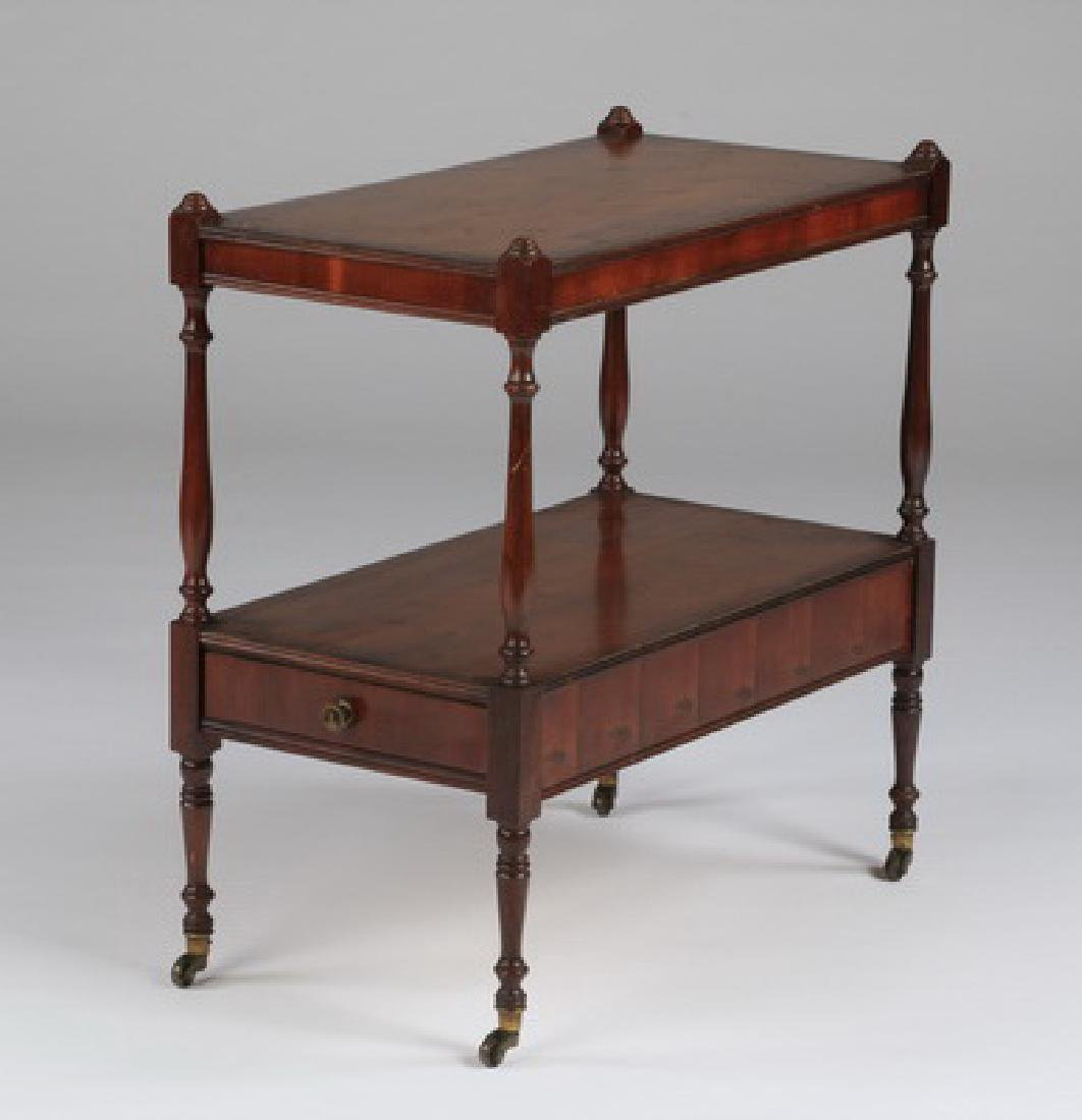 """Two-tiered English style side table w/drawer, 22""""h - 2"""