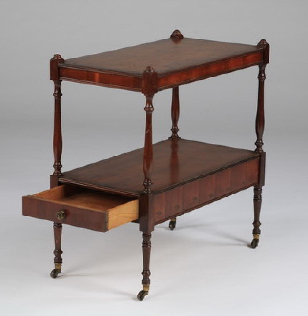 """Two-tiered English style side table w/drawer, 22""""h - 3"""