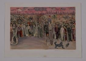Marcel Marceau Signed Lithograph 'Le Voyage De Bip'