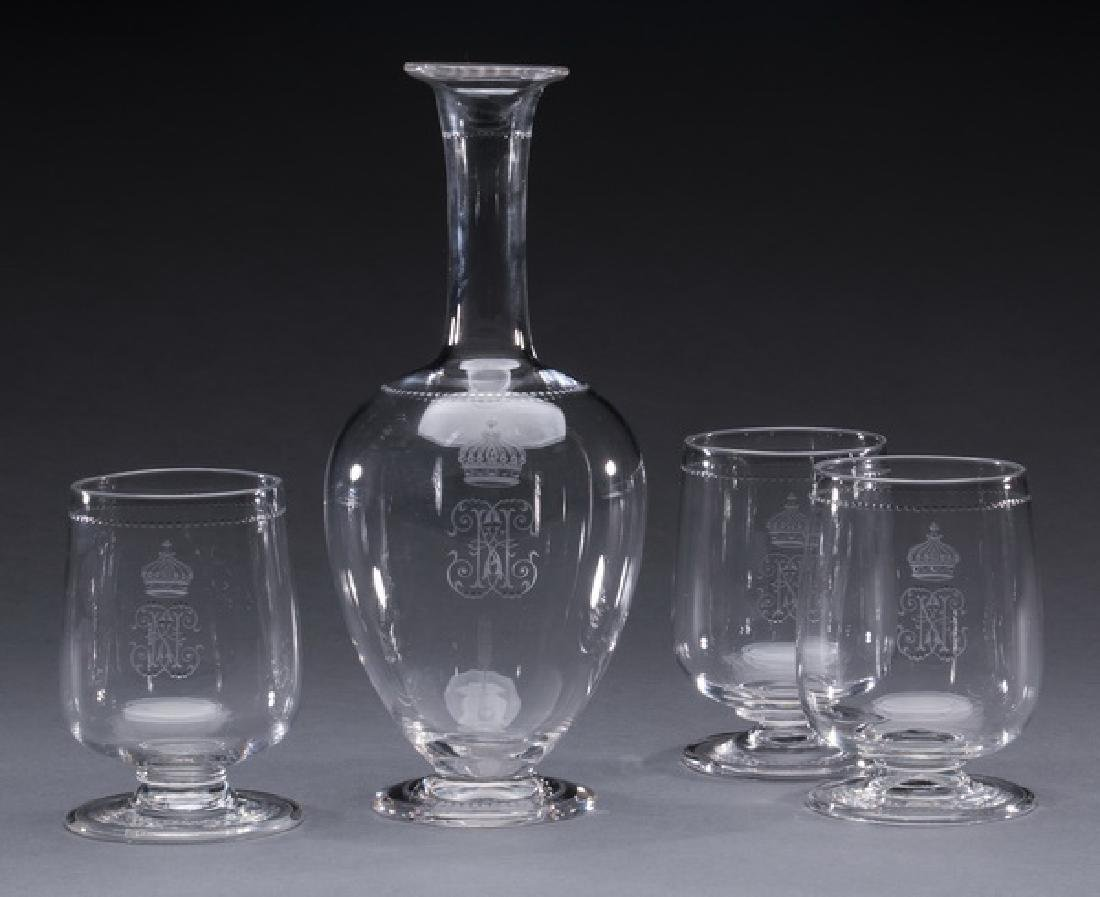 4-Piece Continental crystal brandy snifters & carafe