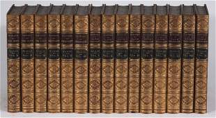 (14) 19th c. leatherbound books on religion by Milman