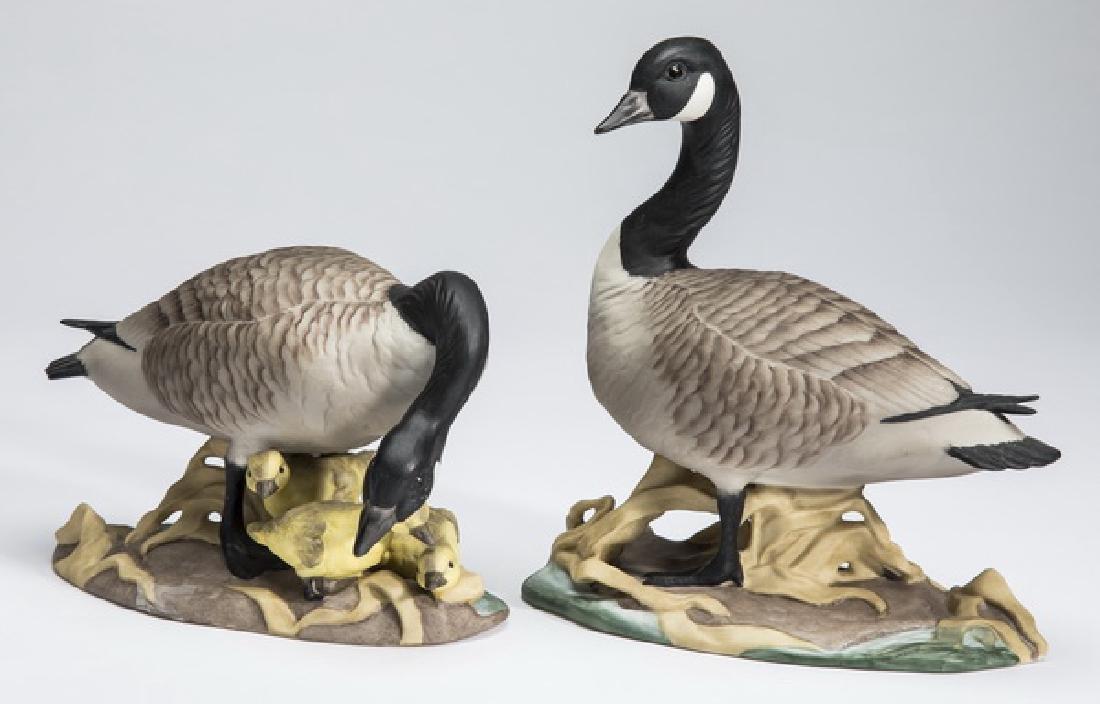 "Boehm Canada Geese porcelain figures #408, 5""h"