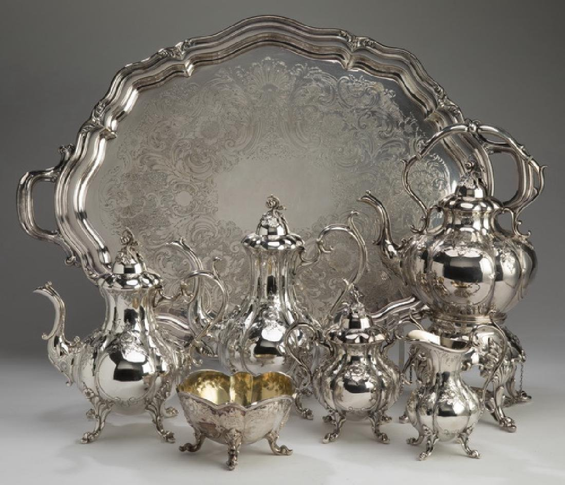 (7) Pcs.Reed & Barton 'Winthrop' silverplate service