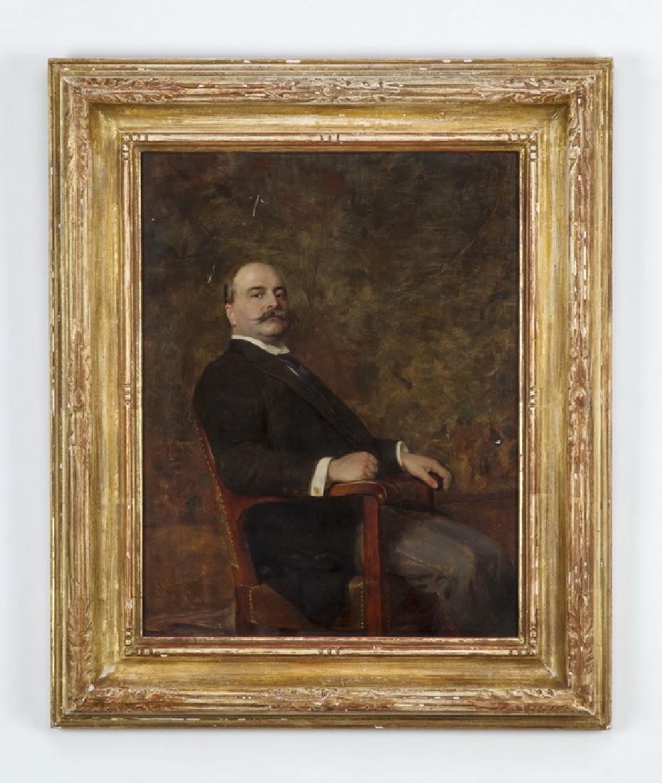 I.M. Gaugengigl O/panel portrait of Gov. E.S. Draper