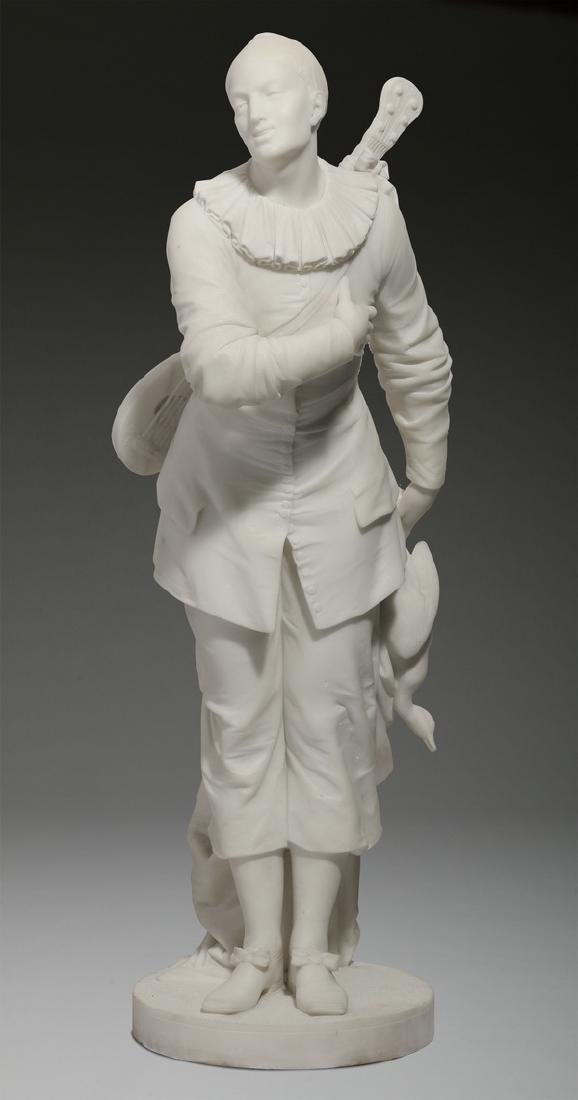 """19th c. Continental marble sculpture, 34""""h"""