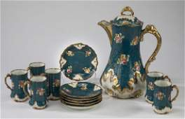13 Pc. Limoges chocolate service, 19th c.