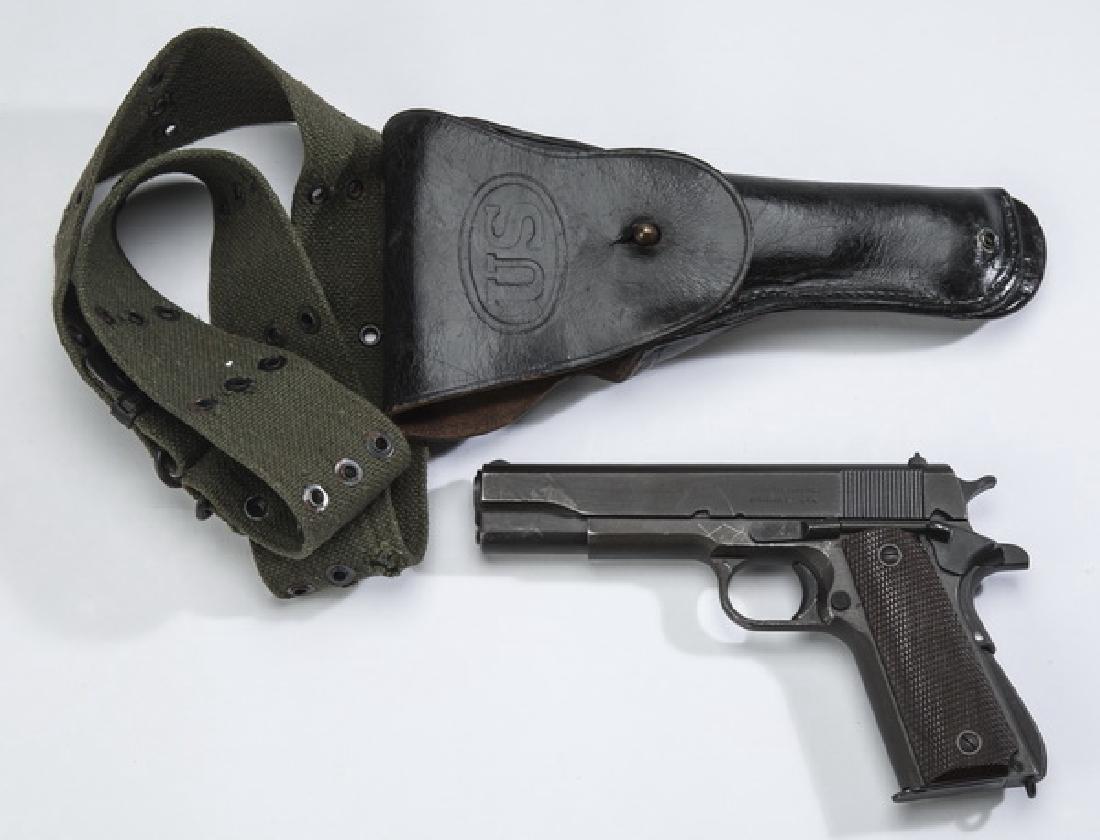 (3) WWII Remington Rand M1911 A1 w/holster & belt