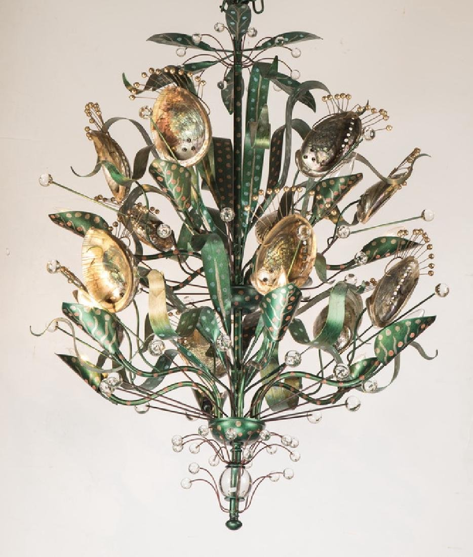 'Abalone' chandelier by Tony Duquette for Baker