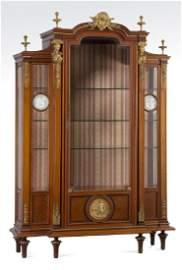 19th c. dore' bronze mounted walnut vitrine