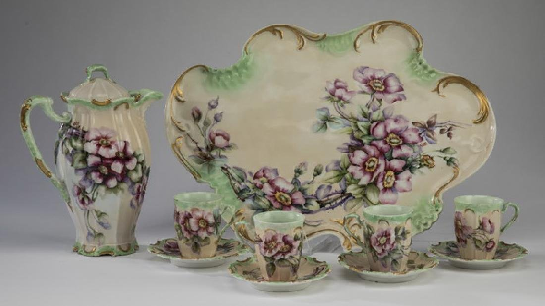 10 Pc. Limoges chocolate service, 19th c.