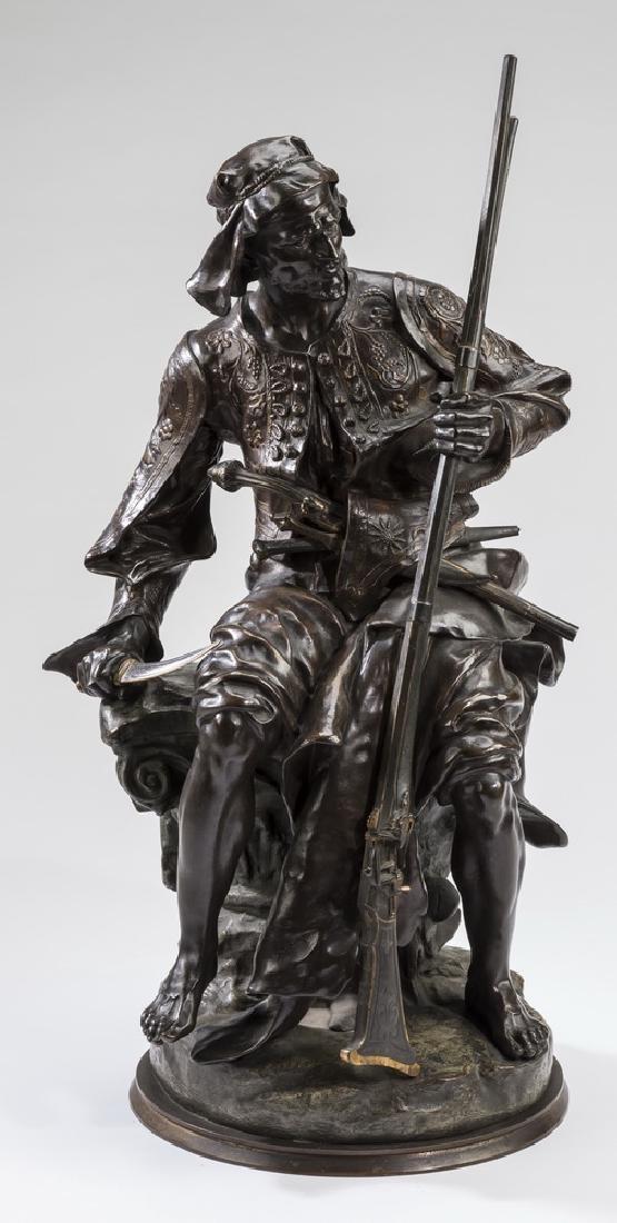 """Peynot Orientalist bronze 'Le Marchand d'Armes' 24""""h"""