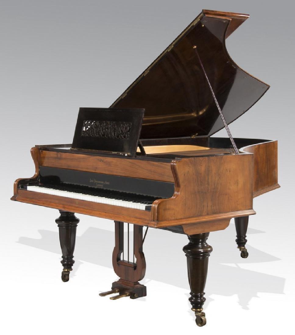 John Broadwood rosewood grand piano, ca 1904
