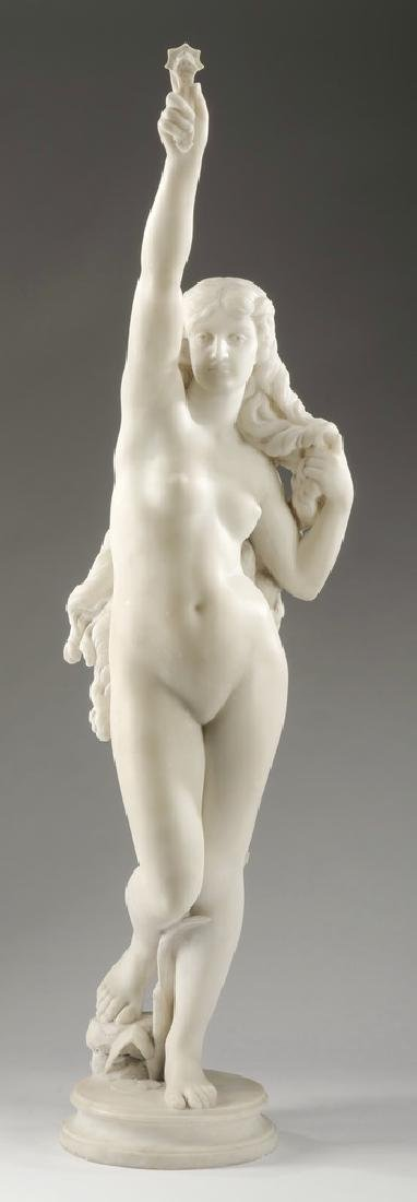 19th c. Continental marble sculpture, 'Truth'