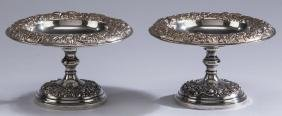 "(2) S. Kirk & Son Weighted Sterling Compotes, 8""dia"
