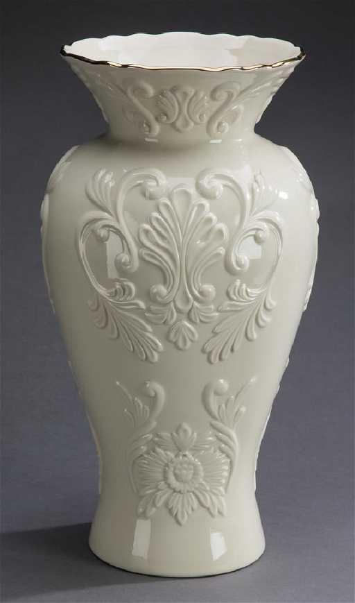 Lenox Georgian Collection Creamware Vase 16h
