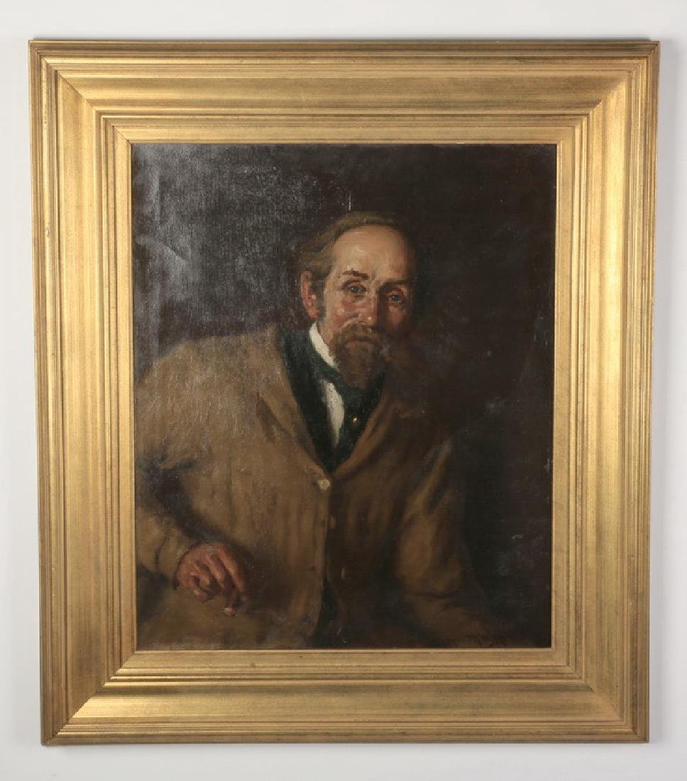"""Jay Campbell Phillips signed O/c portrait, 41""""h"""