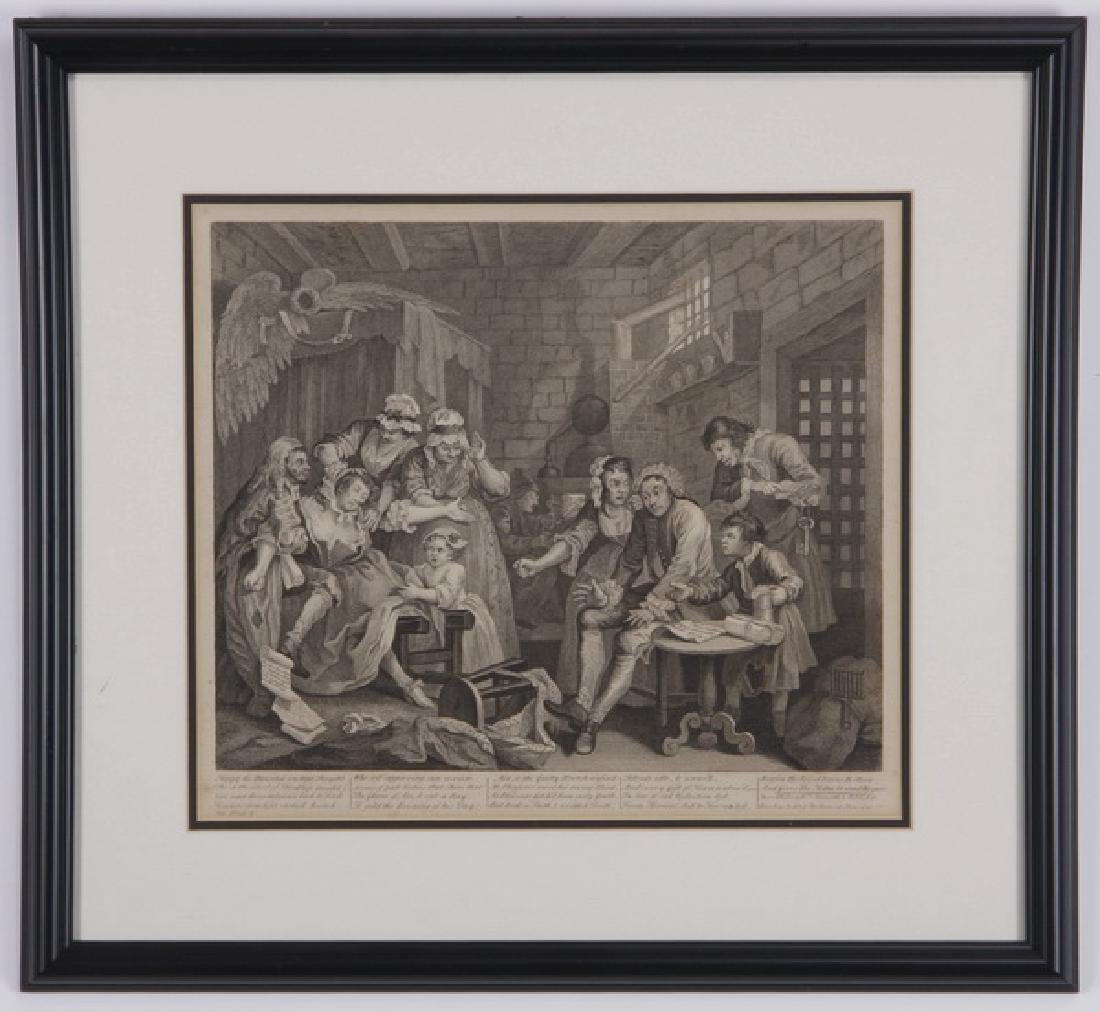 (2) William Hogarth engravings, 18th c.
