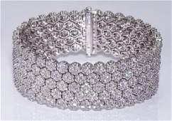 "Diamond and 18k bracelet, 31ctw.,7.5""l"