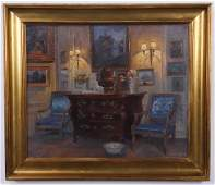 Robert Panitzch (Danish), signed O/c interior scene