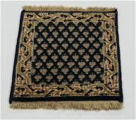 Pair of hand knotted Sino Persian wool mats, 2' x 1'