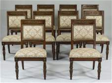 (10) Henredon Neoclassical style dining chairs