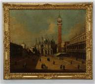 19th c. O/c after Canaletto, Piazza San Marco